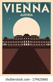 Typographic Vienna City Poster Design
