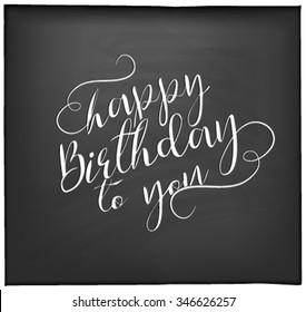 Typographical  Happy Birthday Greeting Card Design