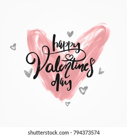Typographical Vintage Brush Valentine's Day Card
