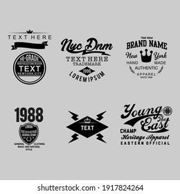 Typography design logo template, Vector illustration, t-shirt graphics, vectors. etc.