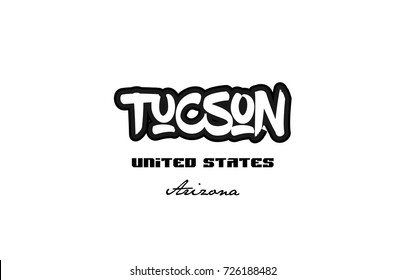 Typography design of tucson arizona city text word in the United States of America graffitti style logo
