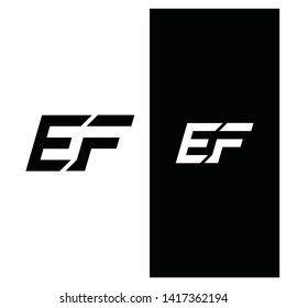Typography EF techno lettering logo icon, unique concept for your company, - Vector