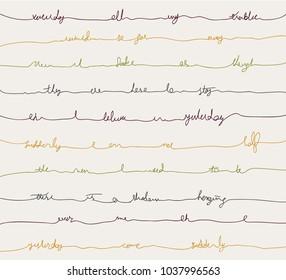 typography lie sketch handwriting