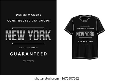Typography new york denim makers for graphic t shirt