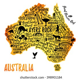 australia map australia travel guide