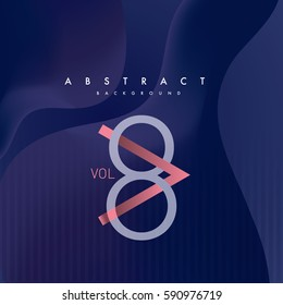 Typography poster layout design with abstract background/ Music album cover design