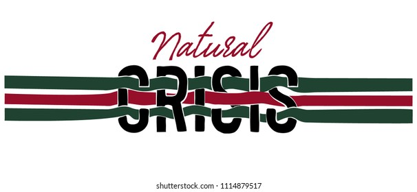 typography slogan with colored stripe and black snake illustration