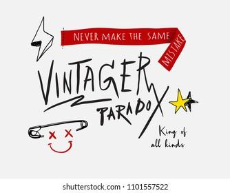 typography slogan with icons
