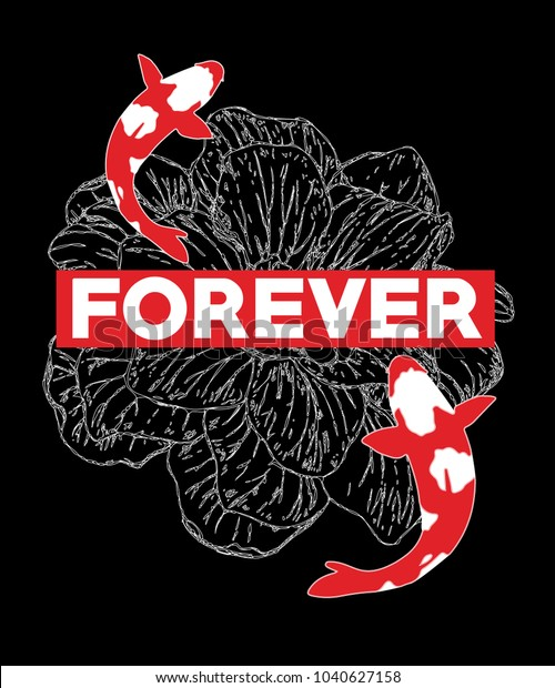 Koi Carp Embroidered /& Personalised T Shirt Fishing