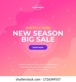 Typography style new season big sale