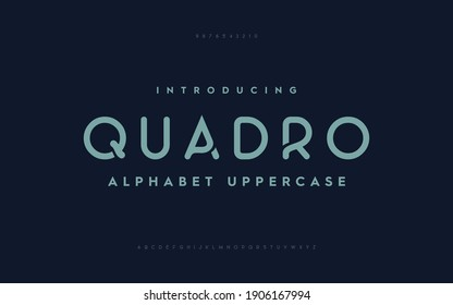 Typography technology electronic future creative font. Alphabet designs fonts set a to z. Rounded fonts typeface. - Shutterstock ID 1906167994
