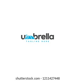 Typography umbrella logo