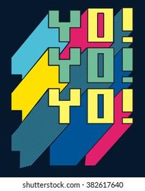 typography vector design for tee