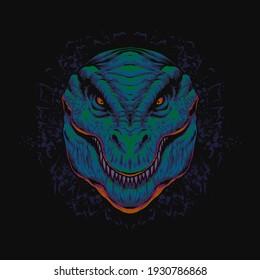 the tyrannosaurs rex dinosaur head