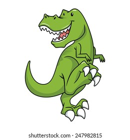 Tyrannosaurus Rex character, vector illustration, isolated white background