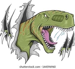 Tyrannosaurus Rex Dinosaur Vector Illustration