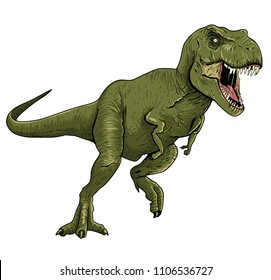 Tyrannosaurus Rex Illustration fo Boy's Wear, Kid's Fashion and More