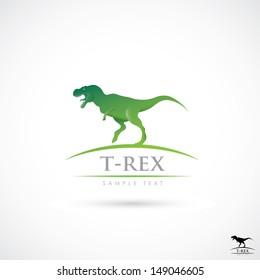 Tyrannosaurus Rex label - vector illustration
