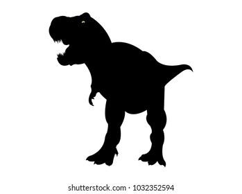 Tyrannosaurus rex silhouette