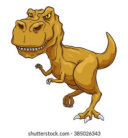 Tyrannosaurus Rex, T-Rex, Primitive carnivore dinosaur with separate color and outline layers.