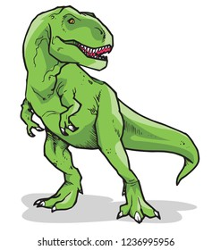 Tyrannosaurus Rex Vector Illustration Full Color suitable for any graphic design related project