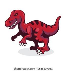tyranosaurus Rex Vector Illustration Mascot