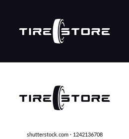 Tyre Shop Logo Design - Tyre Business Branding, tyre logo shop icons, tire icons, car tire simple icons