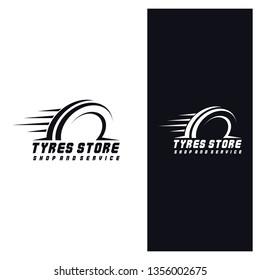 Tyre Shop Logo Design - Tire Business Branding, tyre logo shop icons, tire icons, car tire simple icons. Vector