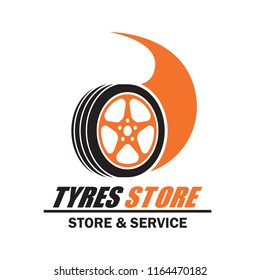 tyre / tire logo, emblems and insignia with text space for your slogan / tag line. vector illustration