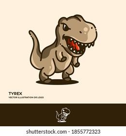 Tyrex, simple line style vector illustration logo template