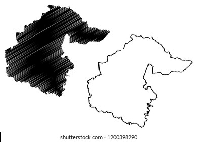 Tyumen Oblast (Russia, Subjects of the Russian Federation, Oblasts of Russia) map vector illustration, scribble sketch Tyumen Oblast map