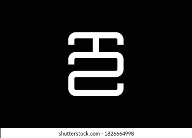 TZ letter logo design on luxury background. ZT monogram initials letter logo concept. TZ icon design. ZT elegant and Professional white color letter icon design on black background. T Z ZT TZ