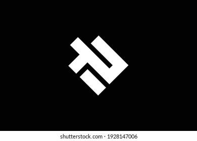 TZ letter logo design on luxury background. ZT monogram initials letter logo concept. TZ icon design. ZT elegant and Professional white color letter icon design on black background.