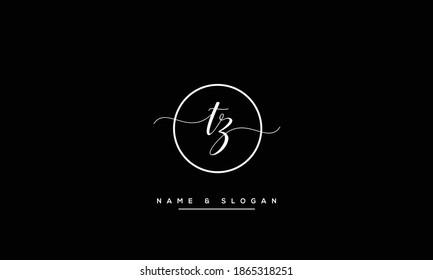 TZ ,ZT ,T ,Z Abstract Letters Logo Monogram