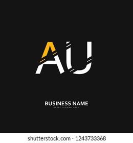 A U AU Logo Letter Design Vector