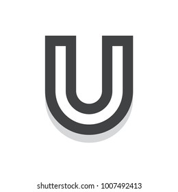 U Initial Letter Logo Template For Multipurpose uses like Agencies, Startup, Apps, & Business