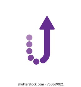 u letter with up arrow logo