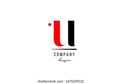U letter logo alphabet design icon for company and business