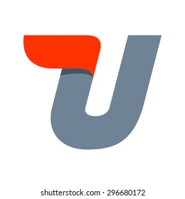 U letter logo design template. Fast speed vector unusual letter. Vector design template elements for your application or company.