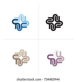 U letter vector logo