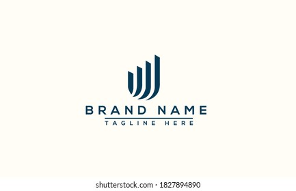 U Logo Design Template Vector Graphic Branding Element.