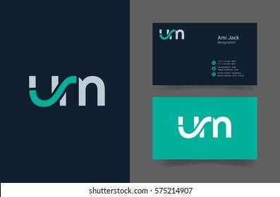 U & M Letter logo design vector element with Business card
