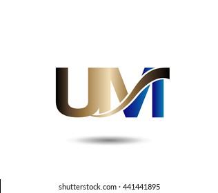 U and M logo vector