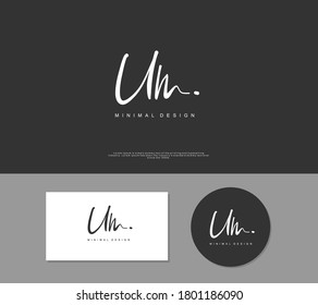 U M UM Initial handwriting or handwritten logo for identity. Logo with signature and hand drawn style.