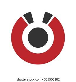 U magnetic logo template. logo vector.