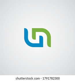 U & N letters Joint logo icon vector template for corporate logo and business card design.