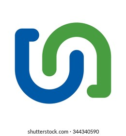 u and n logo vector