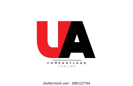 UA icon monogram letter text alphabet logo design