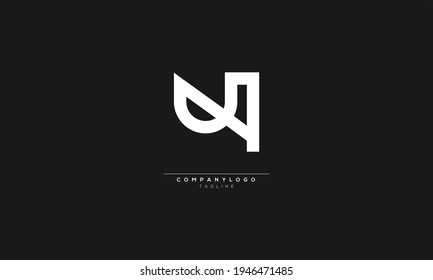 UA U AND A Abstract initial monogram letter alphabet logo design