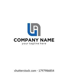 ua/au modern logo design with black and white color that can be used for creative business and company